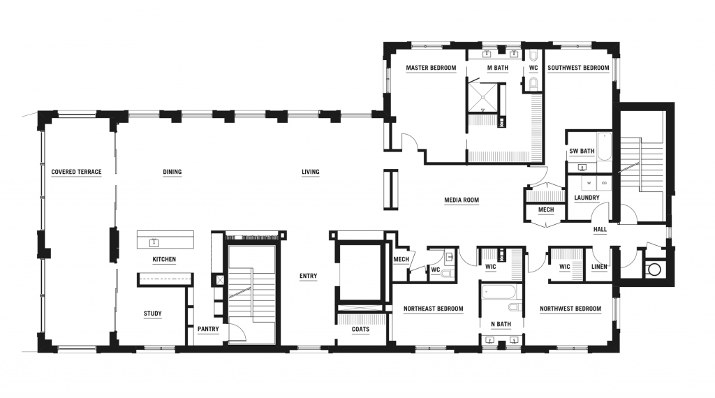 FINISHED INTERIOR: 3,455 SF COVERED TERRACE: 427 SF